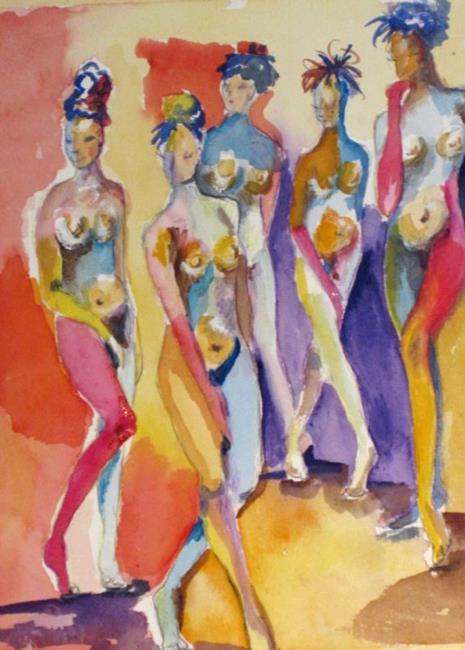 Art: Abstract Nudes by Artist Delilah Smith