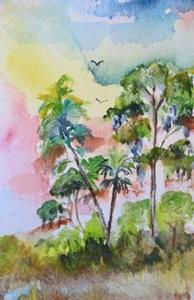 Detail Image for art Tropical Sunset
