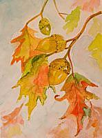 Art: Oak Leaves by Artist Delilah Smith