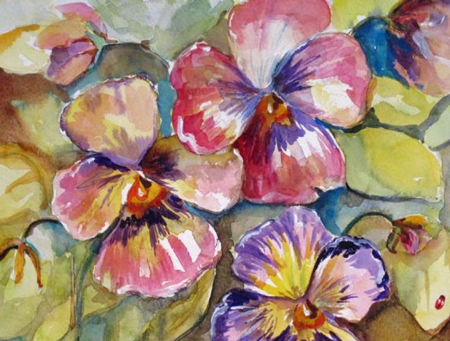 Art: Pansies No 2 by Artist Delilah Smith