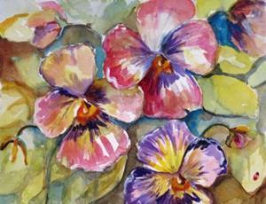 Detail Image for art Pansies No 2