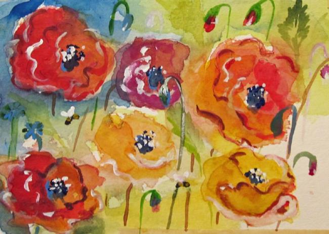 Art: Poppies No.4 by Artist Delilah Smith