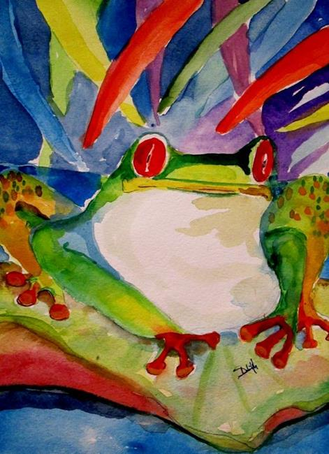 Art: Lily Pad Frog by Artist Delilah Smith