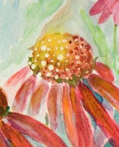 Detail Image for art Butterfly and Coneflower