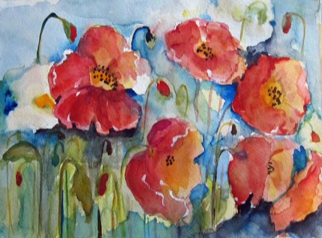 Art: Poppies No. 3 by Artist Delilah Smith