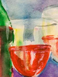 Detail Image for art Wine and Cherries