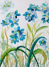 Art: Forget Me Nots by Artist Delilah Smith