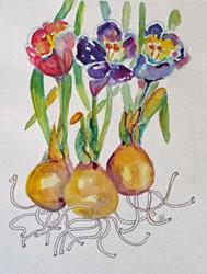 Art: Spring Crocus No.2 by Artist Delilah Smith