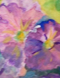 Detail Image for art Pot Of Petunias