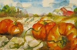 Art: Pumpkin Patch-SOLD by Artist Delilah Smith
