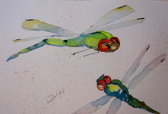 Art: Delightful Dragonflies by Artist Delilah Smith