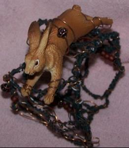 Detail Image for art Rabbit Run - original wire cuff
