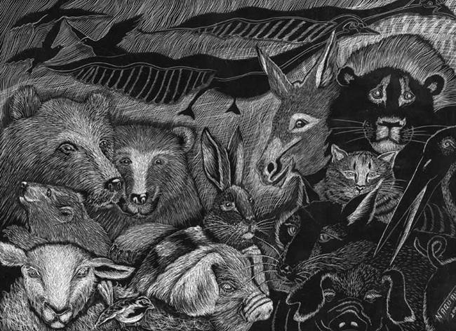 Art: Many Mammals of Noah's Ark by Artist Naquaiya