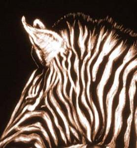 Detail Image for art Zebras Waterhole
