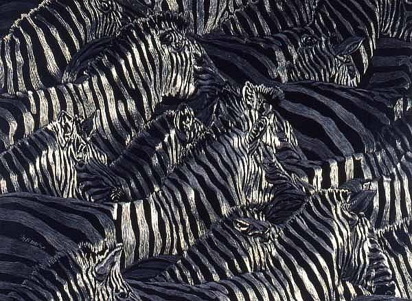 Art: Mess of Stripes by Artist Naquaiya