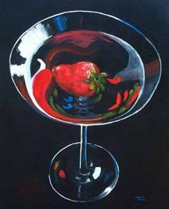 Detail Image for art Strawberry Martini