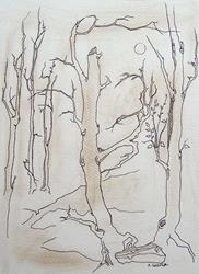 Art: tree study #4 by Artist Angie Reed Garner