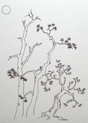 Art: tree study #1 by Artist Angie Reed Garner