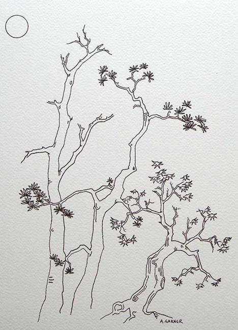 Art: tree study #1 by Artist Angie Reed Garner