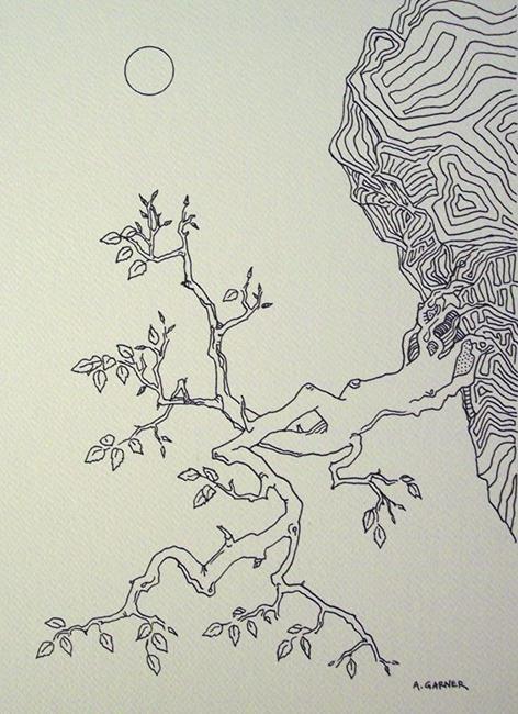 Art: tree study #3  by Artist Angie Reed Garner