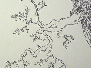 Detail Image for art tree study #3