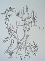 Art: tree study #5 by Artist Angie Reed Garner