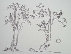 Art: tree study #8 by Artist Angie Reed Garner