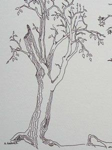 Detail Image for art tree study #8