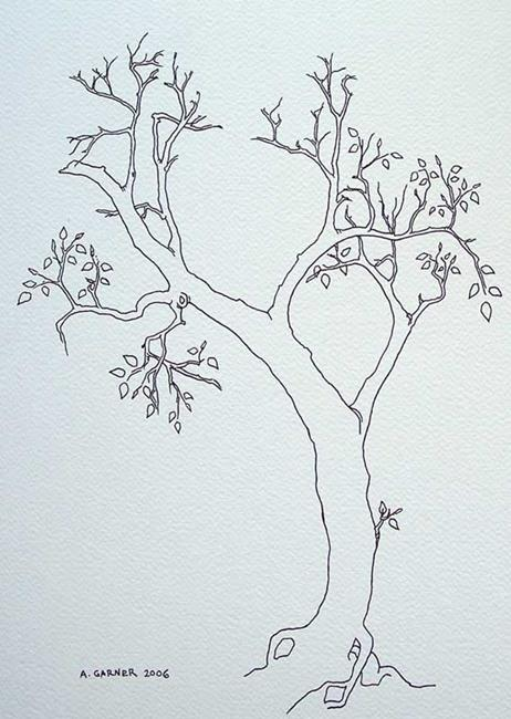 Art: tree study #9 by Artist Angie Reed Garner