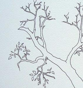 Detail Image for art tree study #9