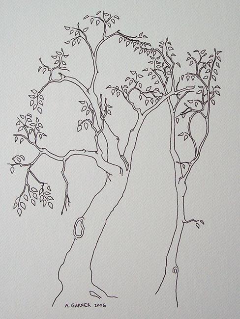 Art: tree study #11 by Artist Angie Reed Garner