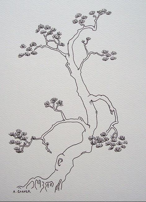 Art: tree study #12 by Artist Angie Reed Garner