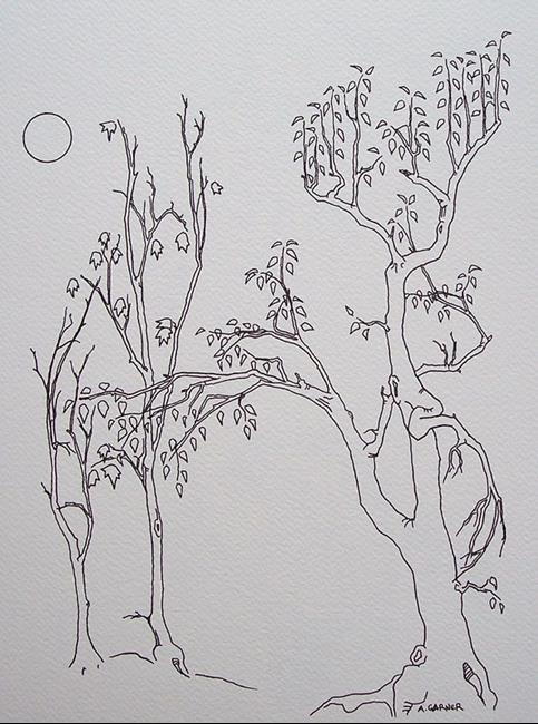 Art: tree study #13 by Artist Angie Reed Garner