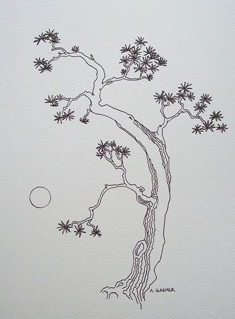 Art: tree study #14 by Artist Angie Reed Garner