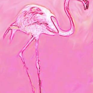 Art: Pink Flamingo by Artist Shawn Marie Hardy