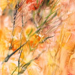 Art: Abstract Fall Grasses by Artist Ulrike 'Ricky' Martin