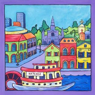 Art: Sunday Afternoon in New Orleans by Artist Melanie Douthit