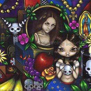 Art: Dia de los Muertos by Artist Jasmine Ann Becket-Griffith