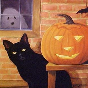 Art: Trick or Treat by Artist Rosemary Margaret Daunis