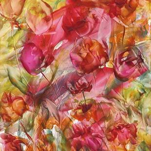 Art: Floral Abstract # 4 by Artist Ulrike 'Ricky' Martin