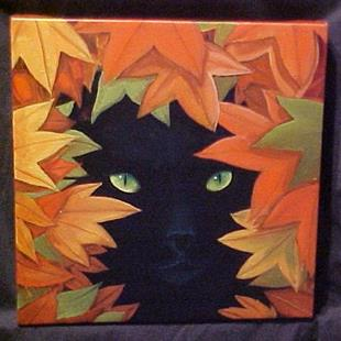 Art: Autumn Cat by Artist Rosemary Margaret Daunis