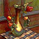 Art: The Gold  Vase by Artist Carolyn Schiffhouer