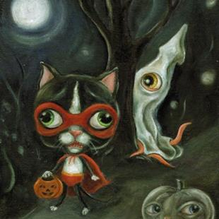 Art: Sparky's Night of Terror by Artist Vicky Knowles