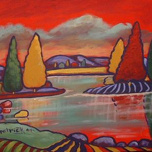 Art: Peaceful River Trees by Artist Virginia Kilpatrick