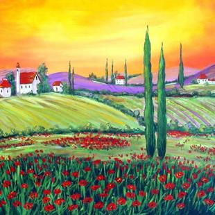Art: Another Day in Tuscany by Artist Diane Funderburg Deam