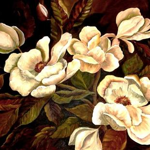 Art: Midnight Magnolias - SOLD by Artist Diane Millsap