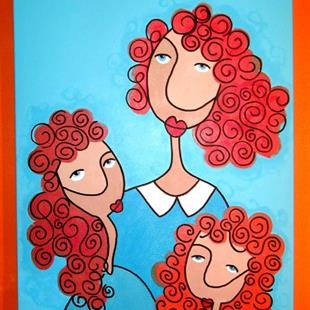 Art: MOTHER DAUGHTERS by Artist Veronique Perron
