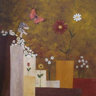 Art: Butterflies and Fairies are Free-SOLD by Artist Charlene Murray Zatloukal
