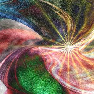 Art: Cosmic Thought by Artist Carolyn Schiffhouer