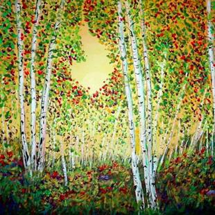 Art: Autumn at Snow Bowl Arizona by Artist Diane Funderburg Deam
